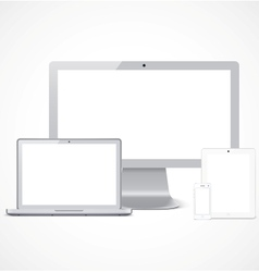 Realistic devices set template vector image