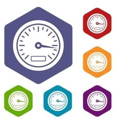Speedometer icons set vector image