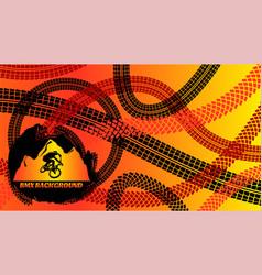 bmx background design vector image