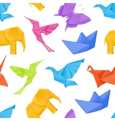 Origami multicolored seamless pattern vector image vector image