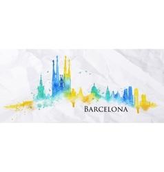 Silhouette watercolor Barcelona vector image vector image