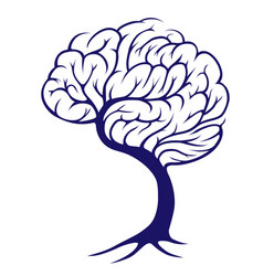 tree brain vector image