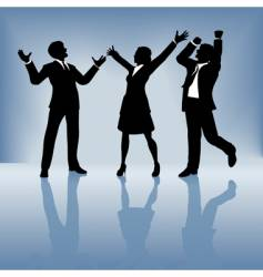 business people celebrate vector image vector image