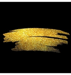 Gold sparkles on black background Gold glitter vector image