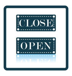 Shop door open and closed icon vector image