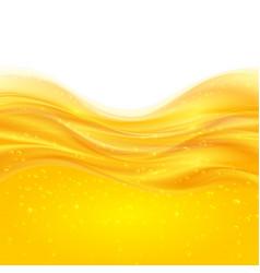Yellow liquid oil background vector