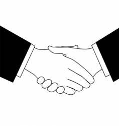 business deal handshake vector image