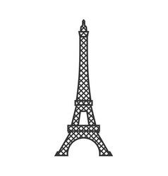 eiffel tower isolated paris attractions landmark vector image