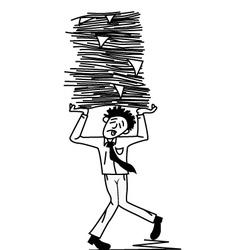 office worker vector image