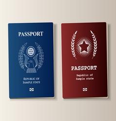 Passport set vector image vector image