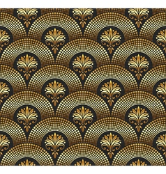 seamless ornate golden pattern vector image vector image