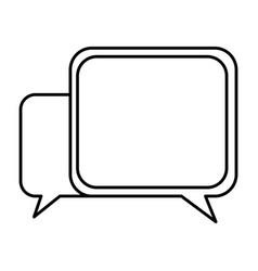 Silhouette square chat bubbles icon vector