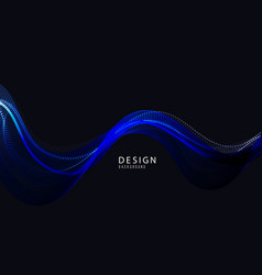 abstract design element flowing particle vector image