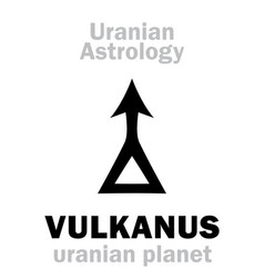 astrology vulkanus uranian planet vector image