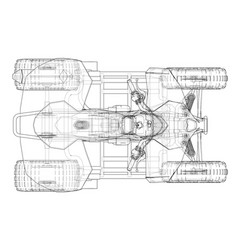 Atv quadbike concept outline vector