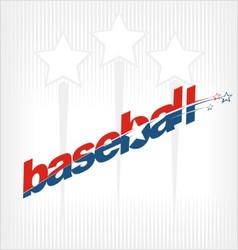 baseball sport text logo vector image