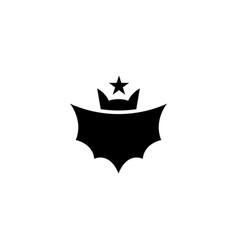 Bat with star logo design vector