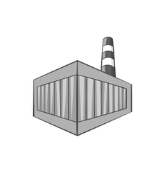 Beer bottling building icon monochrome style vector image