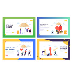 Better health for life landing page set vector