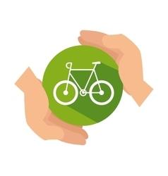 Bicycle ecology vehicle isolated icon vector