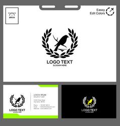 black bird logo design minimalist concept vector image