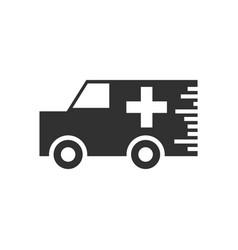 Black icon on white background ambulance vector