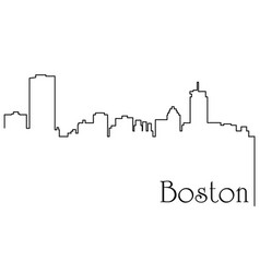 boston city one line drawing vector image