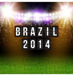 Brazil 2014 football poster Stadium background and vector