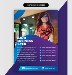 business flyer vector image