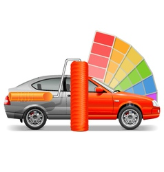 Car with Paint Brush vector