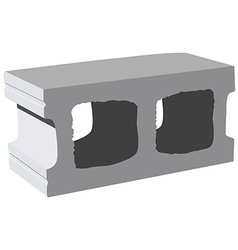 Cement block icon vector