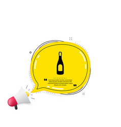 champagne bottle icon anniversary alcohol sign vector image