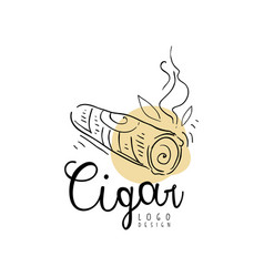 cigar logo design emblem can be used for smoke vector image