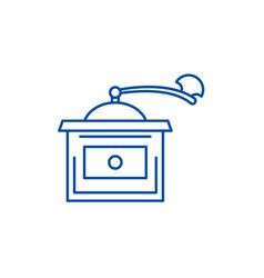coffee grinder line icon concept coffee grinder vector image
