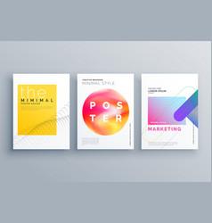 Creative minimal cover page or brochure flyer vector