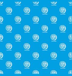 cucumber pattern seamless blue vector image