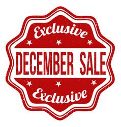 December sale stamp vector