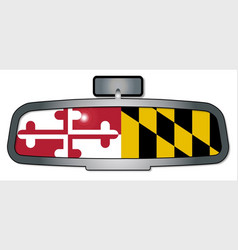driving through maryland vector image