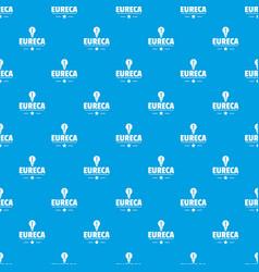 Eureka bulb pattern seamless blue vector