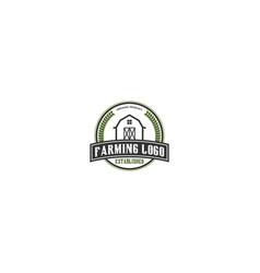 Farming logo design - growing botanical vector