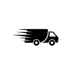 Fast shipping delivery truck vector