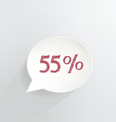 Fifty Five Percent Discount vector image