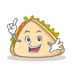 Finger sandwich character cartoon style vector
