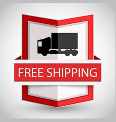 Free shipping badge with on white background vector