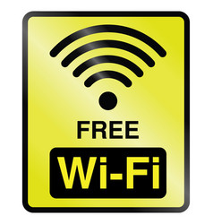 Free wifi information sign vector