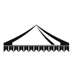 Gazelo tent icon simple style vector
