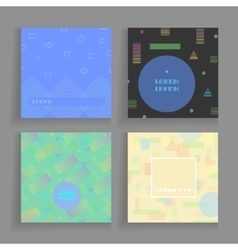 geometry chaotic backgrounds set for covers vector image