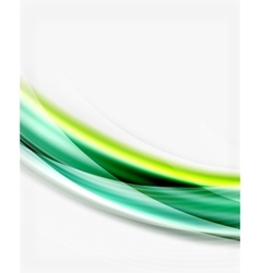 Glossy wave on white space vector