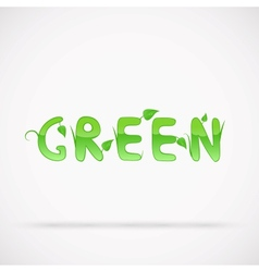 Green text vector image vector image