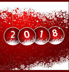 happy new year snowy background vector image